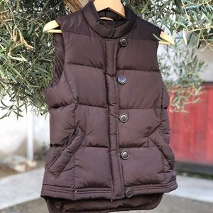 J.CREW Puffy Reversal Brown Down Vest, Size S